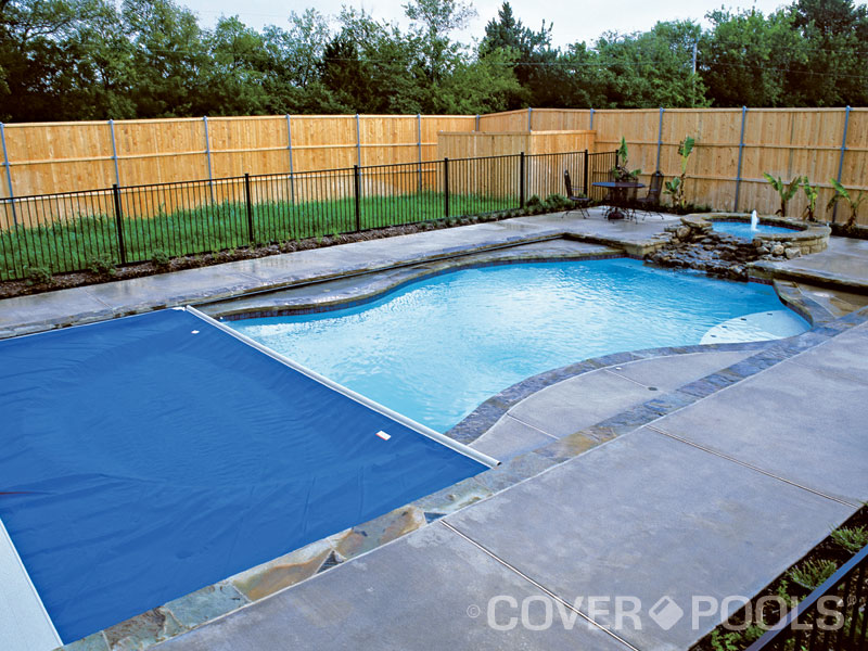 This Technique Involves Building A Rectangular Deck Slightly Raised Above The Freeform Pool Tracks Are Placed Under Coping Of