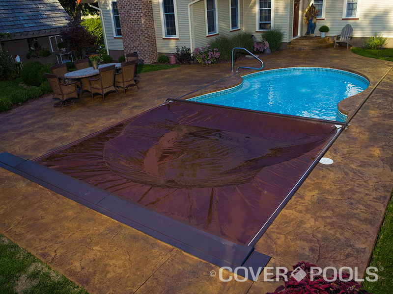 Another Technique For Adapting The Automatic Cover To Free Form Pool Involves Use Of Low Profile Track That Mounts Deck Surface